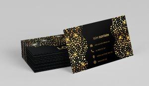 altın yaldızlı kart